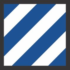 Army 3rd Infantry Division Patch Vinyl Transfer Decal