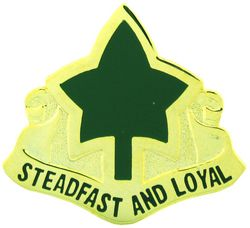 Army 4th Division Lapel Pin Steadfast and Loyal