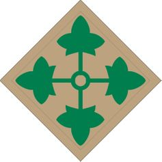 Army 4th Infantry Division Patch Vinyl Transfer Decal