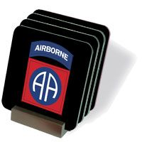 Army 82nd Airborne Coasters - Set of 4