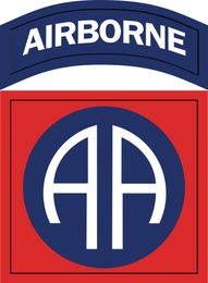 Army 82nd Airborne Division Patch Vinyl Transfer Decal