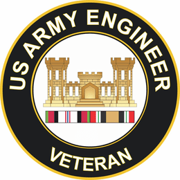 Army Engineer Afghanistan and Iraq Decal