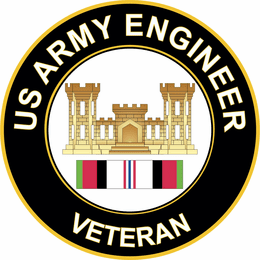 Army Engineer Corps Afghanistan Decal