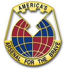 Army Material Command Unit Crest Vinyl Transfer Decal