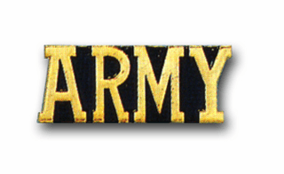 'ARMY' MILITARY LAPEL PIN