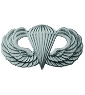Army Paratrooper Military Lapel Pin - Oxidized