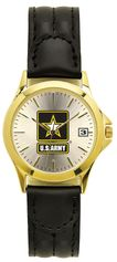 Army Watch with Deluxe Leather Strap