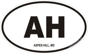 Aspen Hill, Maryland Decal Sticker