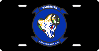 Attack Squadron 83 Rampagers License Plate
