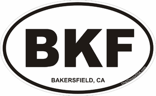 Bakersfield California Oval Decal