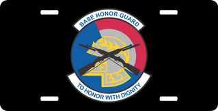 Base Honor Guard Military License Plate