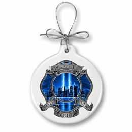 Blue Skies High Honor Firefighter Christmas Ornament