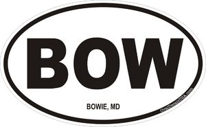 Bowie, Maryland Decal Sticker