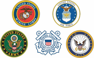 Branches of Service Combo Pack of Decals