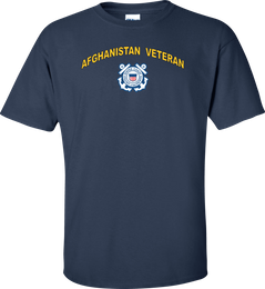 Coast Guard Logo Afghanistan Veteran Shirt