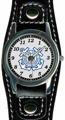 Coast Guard Watch with Leather Strap