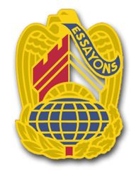 Corps of Engineers Command Unit Crest - left - Vinyl Transfer Decal