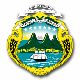 Costa Rica Coats Of Arms Decal