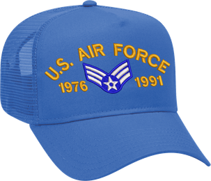 Custom Embroidered Air Force Mesh-Back Cap