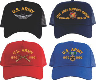 Custom Embroidered Army Mesh-Back Cap