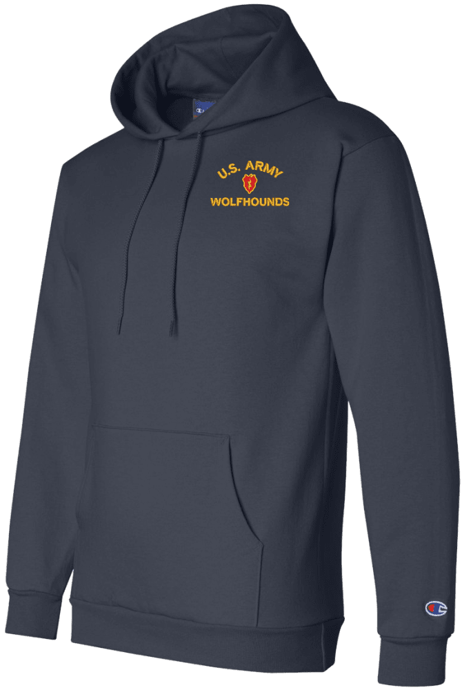 U.S Army 49th Armored Division Unit Crest Mens Hooded Sweatshirt