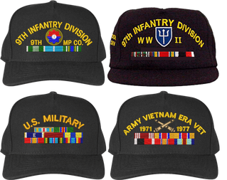 Custom Made Army Caps with Service Ribbons