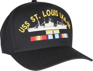 Custom Navy Ship Cap with Service Ribbons