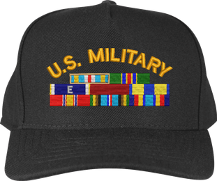 Custom Military Cap with Service Ribbons