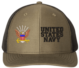 Custom Navy Split Cap