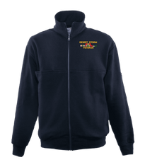 Desert Storm Veteran Game Sportswear Firefighter's Full Zip Turtleneck