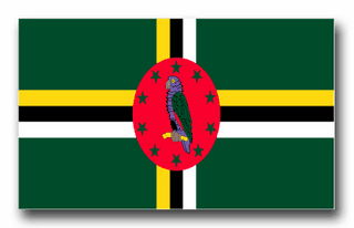 Dominica Flag Vinyl Transfer Decal