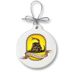 Don't Tread on me Christmas Ornament