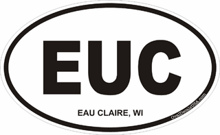 Eau Claire Wisconsin Oval Decal