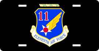 Eleventh Air Force License Plate