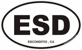 Esconditio California Oval Decal