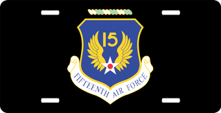 Fifteenth Air Force License Plate