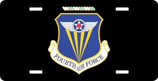 Fourth Air Force License Plate