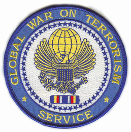 "Global War on Terrorism Service Medal 4"" Patch"