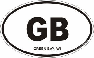 Green Bay Wisconsin Oval Decal