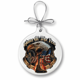 Home of the Free Because of the brave Christmas Ornament