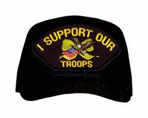 I Support Our Troops with Yellow Ribbon Ball Cap