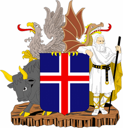Iceland Coats Of Arms Decal