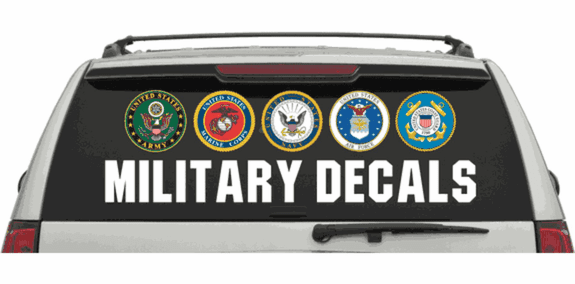 I SUPPORT MILITARY FAMILIES Army Navy Airforce Marines Large Bumper Sticker