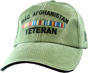Iraq Afghanistan Veteran OD Green Ball Cap