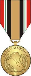 Iraq Campaign Medal Sticker Decal