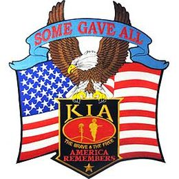 KIA Some Gave All - America Remembers 12-inch Jacket Patch
