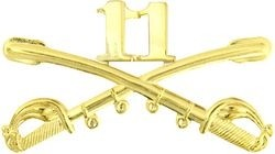 Large 11th Cavalry Lapel Pin
