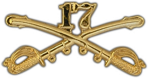 "Large 17th Cavalry 2 1/4"" Lapel Pin"