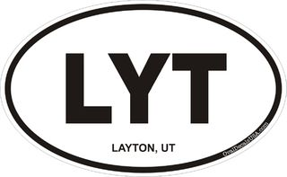 Layton Utah Oval Decal