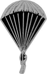 Man with Parachute (silver) Lapel Pin